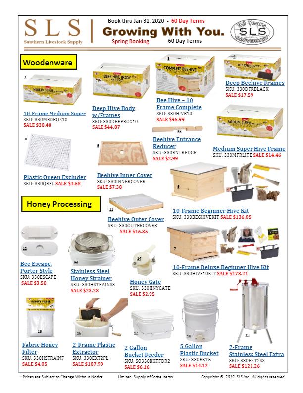 Beekeeping Sale Sheet Jan 2020-thumbnail