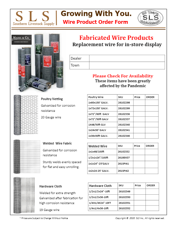 Wire Product Order Form-thumbnail